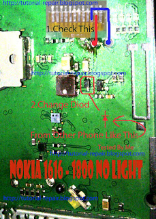 Nokia 1280 - 1616 - 1800 No Light Solution