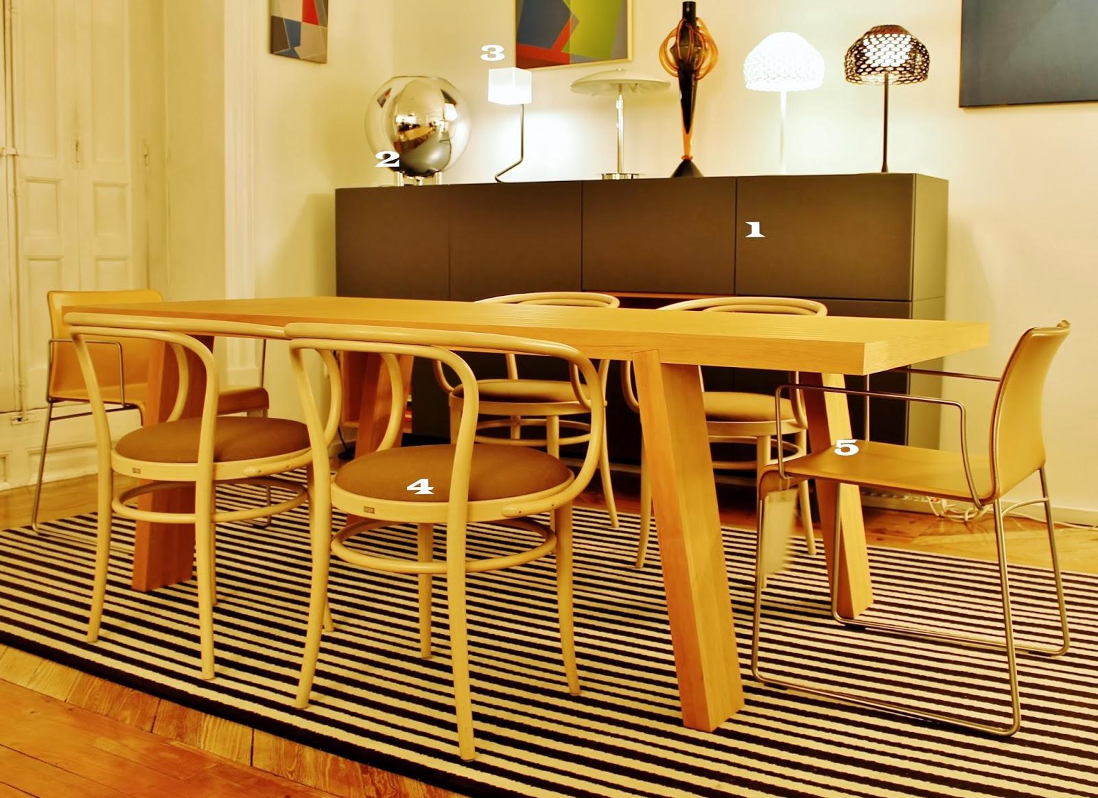 Mesa y mueble de Porro,Lámpara Fontana Arte, Sillas Matteo Grassi ...