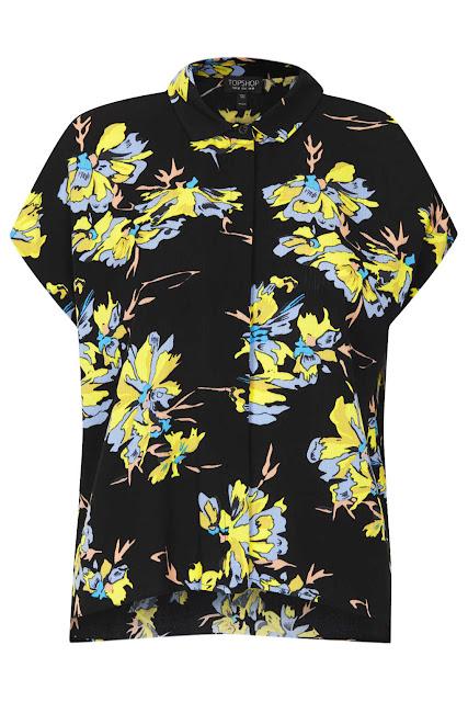 dark floral shirt