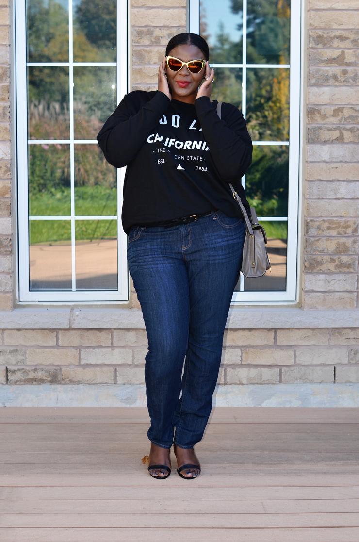 Canadian plus size fashion blogger/ Asos curve sweat