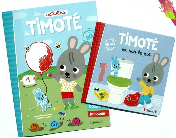 Les activités de Timoté et Timoté va sur le pot - éditions Gründ
