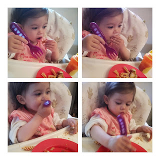 youngest eating pasta