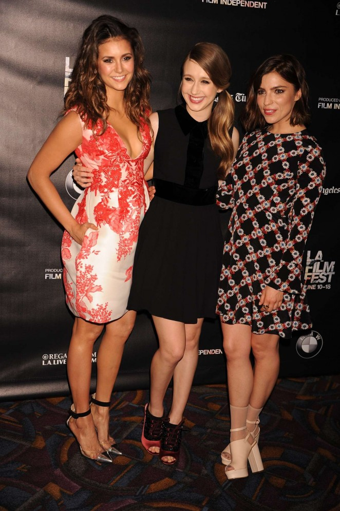 Nina Dobrev puts ample cleavage on display at 'The Final Girls' LA Film Festival Screening
