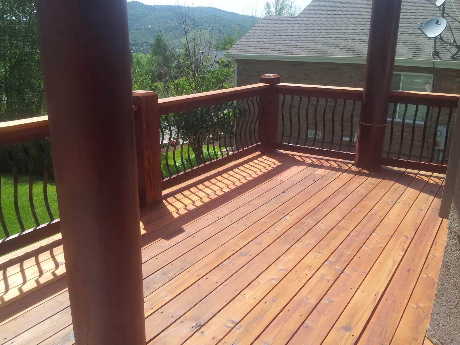 stain sikkens srd mahogany on timbers cedar color on deck