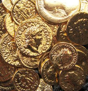 Monedas romanas y deposito en Derecho romano