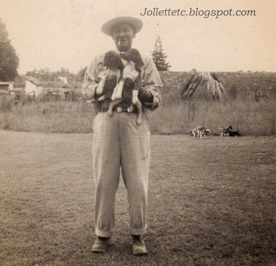Fred Slade and beagles  http://jollettetc.blogspot.com