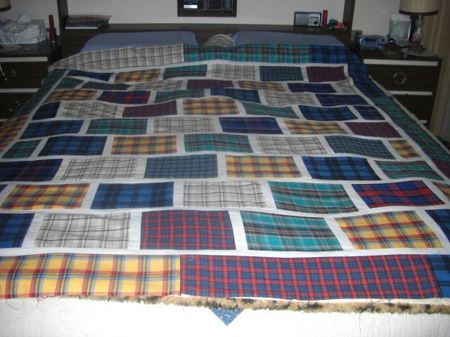 Patra's Place of Stitching and Vintage Linens: Tartan quilt top ... : tartan quilt - Adamdwight.com