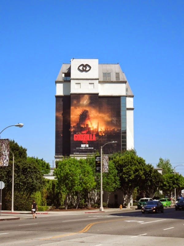 Giant Godzilla movie billboard