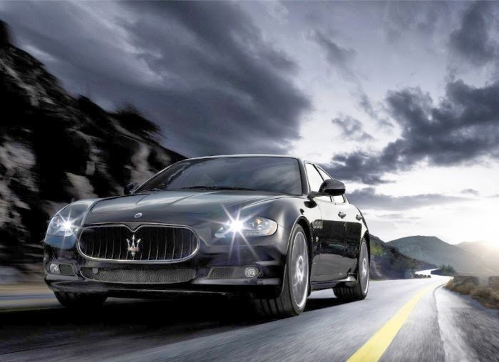 Maserati Quattroporte Front Side View HD Wallpaper