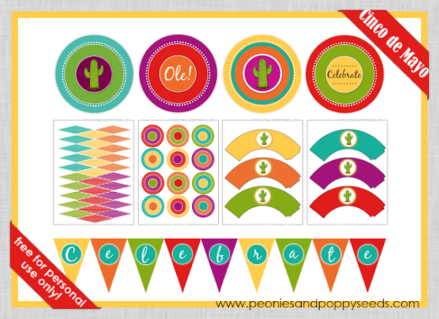 picture relating to Cinco De Mayo Printable Decorations named 15 Cinco De Mayo Printables - The Developed Sparrow