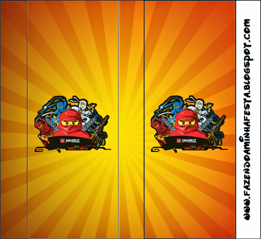 Etiquetas de Ninjago para imprimir gratis.
