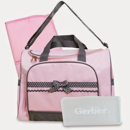 Gerber Duffel Style Diaper Tote Bag, Pink