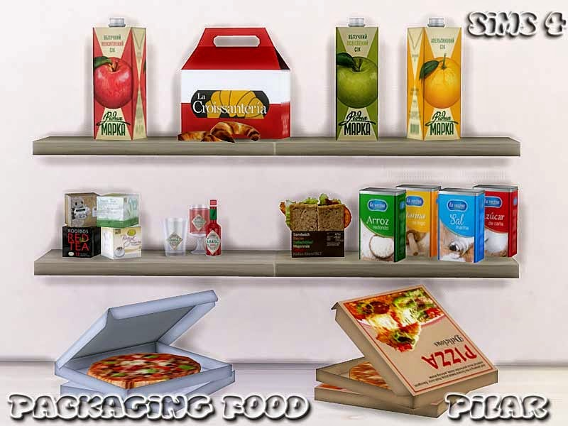 11-03-2015  Packaging food Sims 4