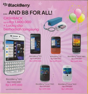 Harga Smartphone Blackberry di Indocomtech 2013