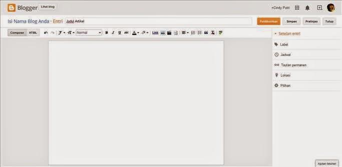 Cara Membuat Artikel di Blog gambar 1