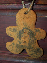 Grungy Gingerbread Man Ornie
