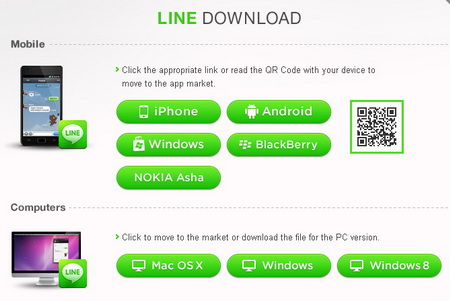 Download LINEfor mobile: