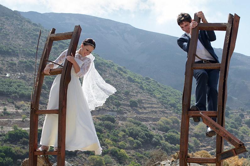 vestuvių fotosesija kalnuose Graikijoje