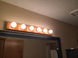 Vanity Light Bar With On Off Switch : Handy in KS: Updating Old Oak Vanity Light Bar with Bronze Spray Paint