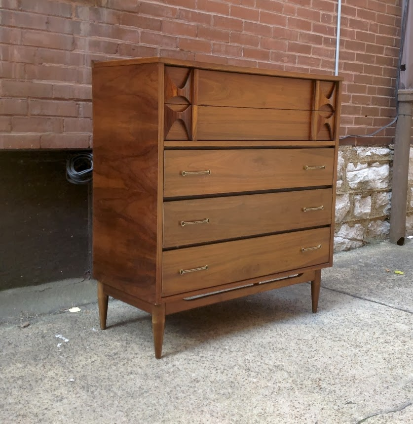 Danish Modern Chest With Rosewood Accents