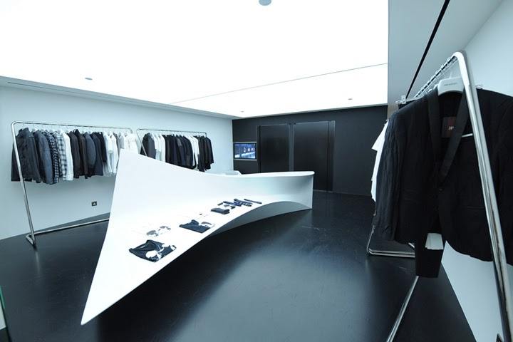 Neil Barrett shop designed by Zaha Hadid