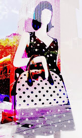Stylized look of Kate Spade NY Polka-Dot Dress and bag