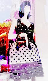 Stylized look of Kate Spade NY Polka-Dot Dress and bag