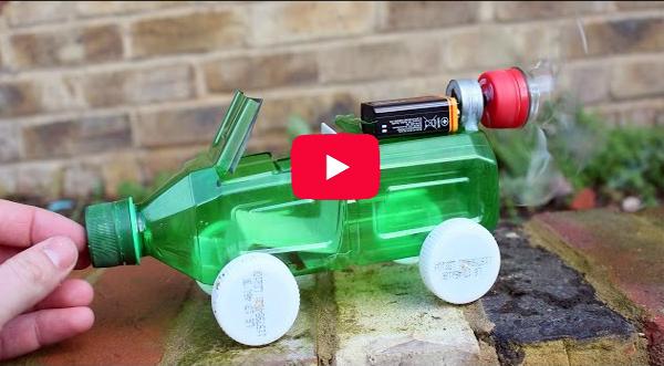 تعلم كيف تصنع سيارة من قنينة بلاستيكية