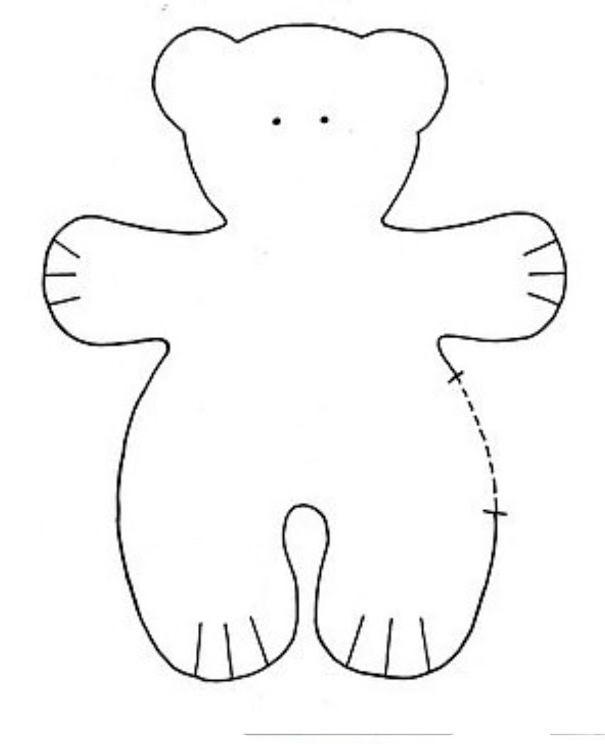 Медвежонок из фетры выкройка 154