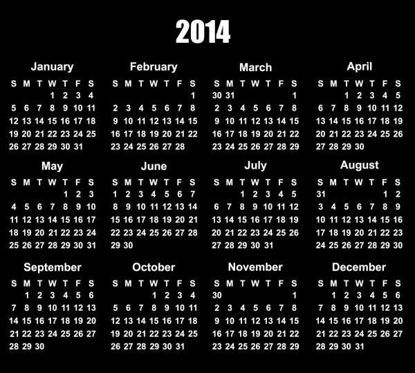 Calendar Designs for 2014