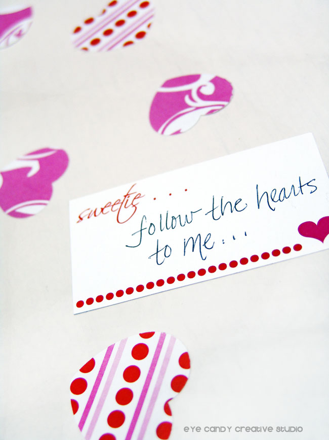 heart scatter, heart confetti, love notes for your sweetie, valentines day