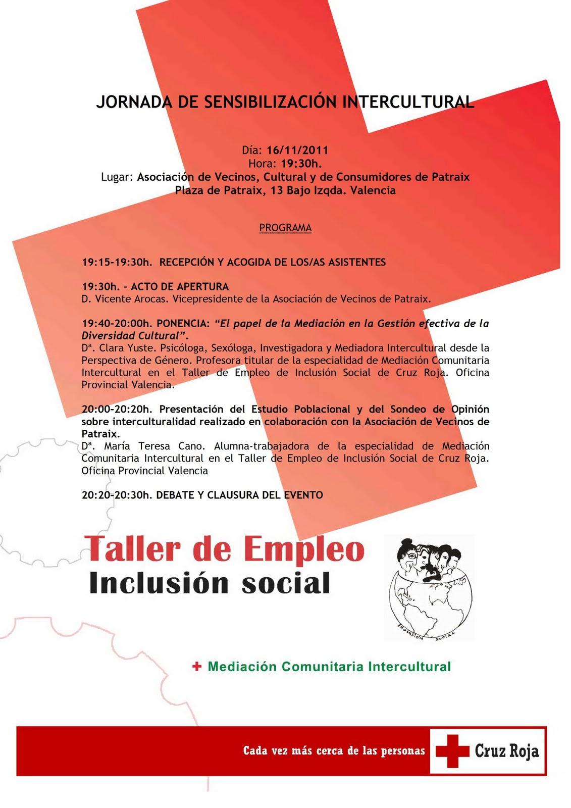 Taller empleo inclusi n social cruz roja oficina for Oficinas de la seguridad social en valencia