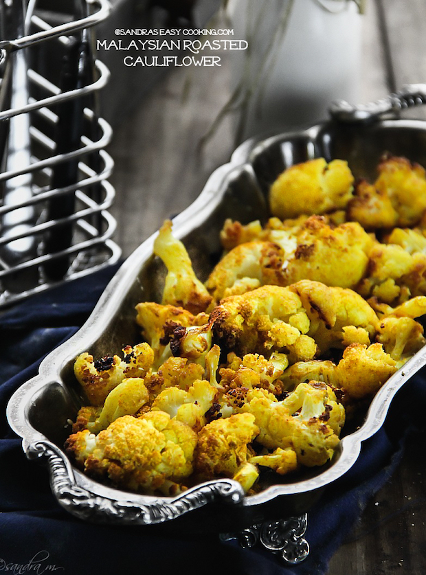 Malaysian Roasted Cauliflower by Sandra's Easy Cooking