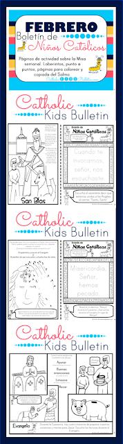 Febrero Boletin de Ninos Catolicos Cuaresma