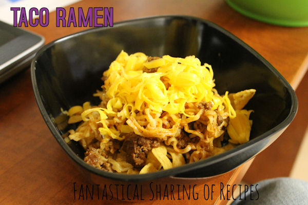 Taco Ramen | A speedy Mexican dish that's easy on your wallet #pasta #Ramen