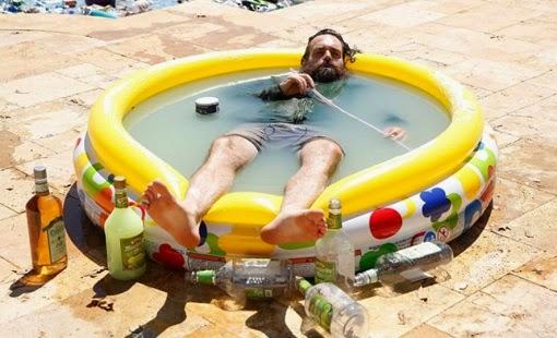 Phil en su piscina de Margarita