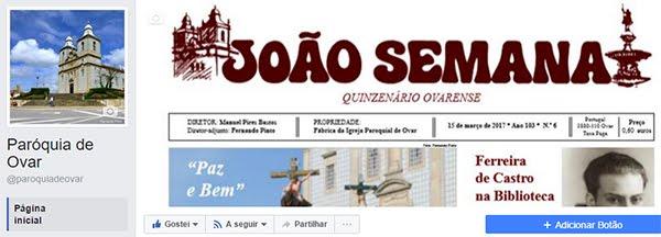 Clique na gravura para visitar a página da Paróquia de Ovar no FACEBOOK