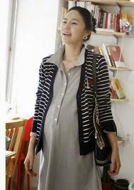 gambar desain baju hamil untuk kerja