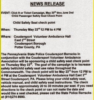 5-23 Free Safety Seat Check