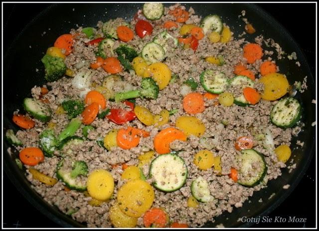 Nadzienie do paczuszek - mielone mięso z warzywami