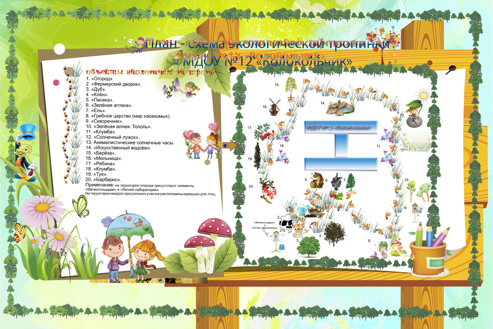Оформление детского сада в схемах