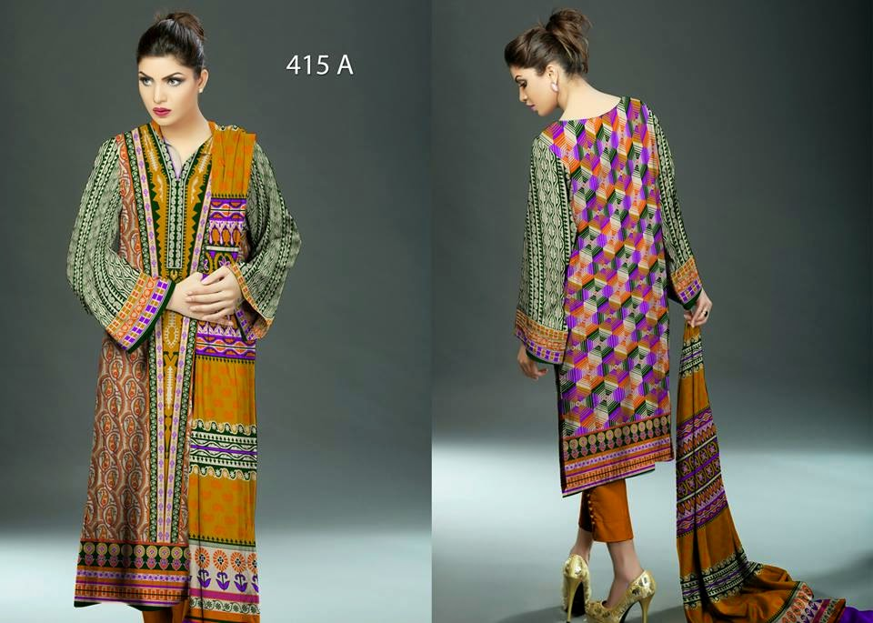 Ajwa Textile lawn collection 2015