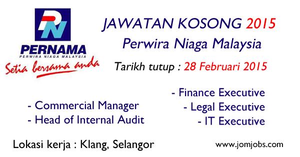 Jawatan Kosong Perwira Niaga Malaysia (PERNAMA) 2015