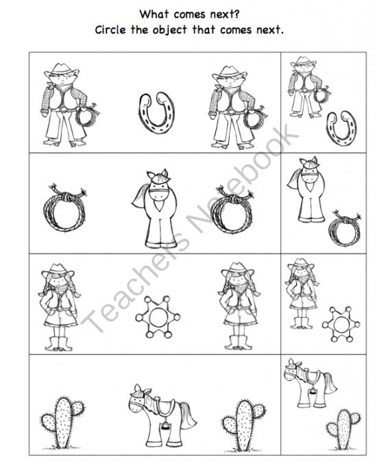 Cowboy Printable Preschool Printables