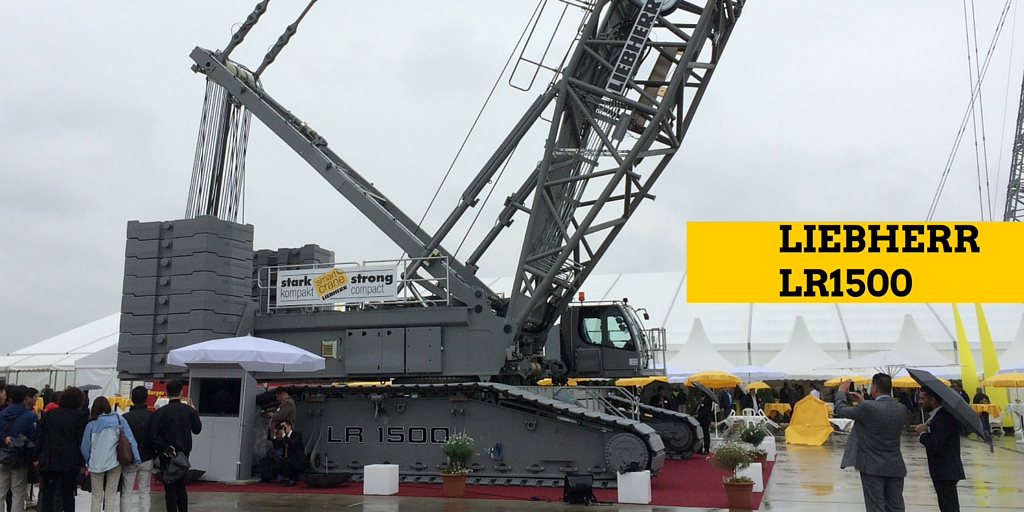 Liebherr LR1500 displayed first time at Liebherr Customer Day in June 2015