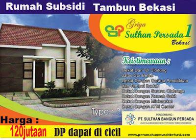 Daftar Harga Terbaru Perumahan Griya Sultan Persada | Subsidi Tambun Bekasi