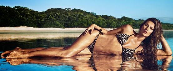 H&M bikini estampado verano 2014 Gisele Bündchen