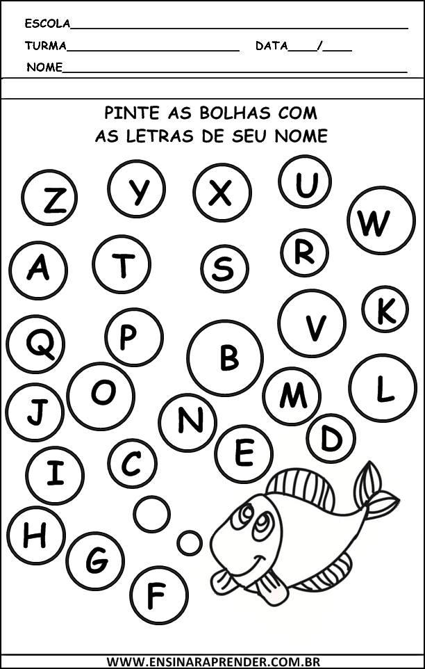 Fabuloso Atividades: de Linguagem Escrita | Cantinho do Educador Infantil GG69