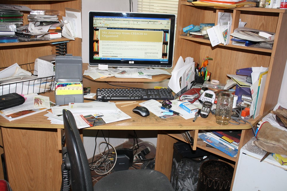 My journey from chaos to organized declutter the desk - Organize computer desk ...