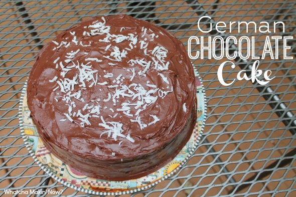 The best German Chocolate Cake ever - WhatchaMakinNow.com